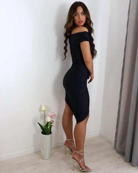 'NASJA' haljina KRATKI RUKAVI CRNA
